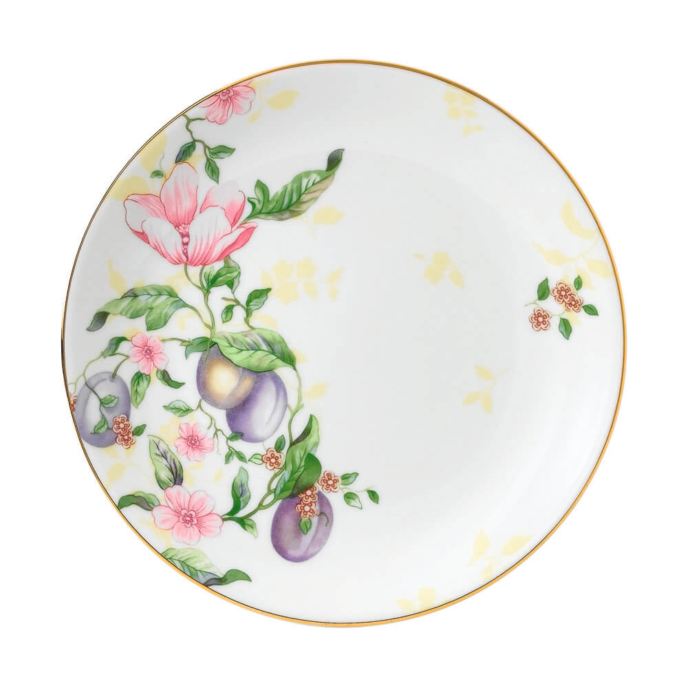 Sweet Plum Damask Coupe Plate 17cm