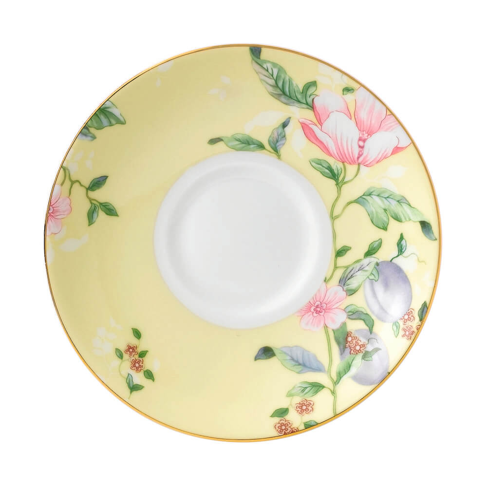 Sweet Plum Damask Tea Saucer