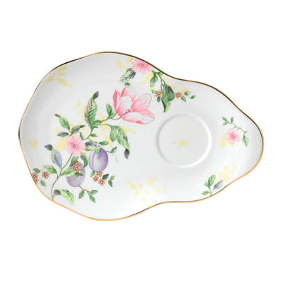 Sweet Plum Damask Hostess Saucer