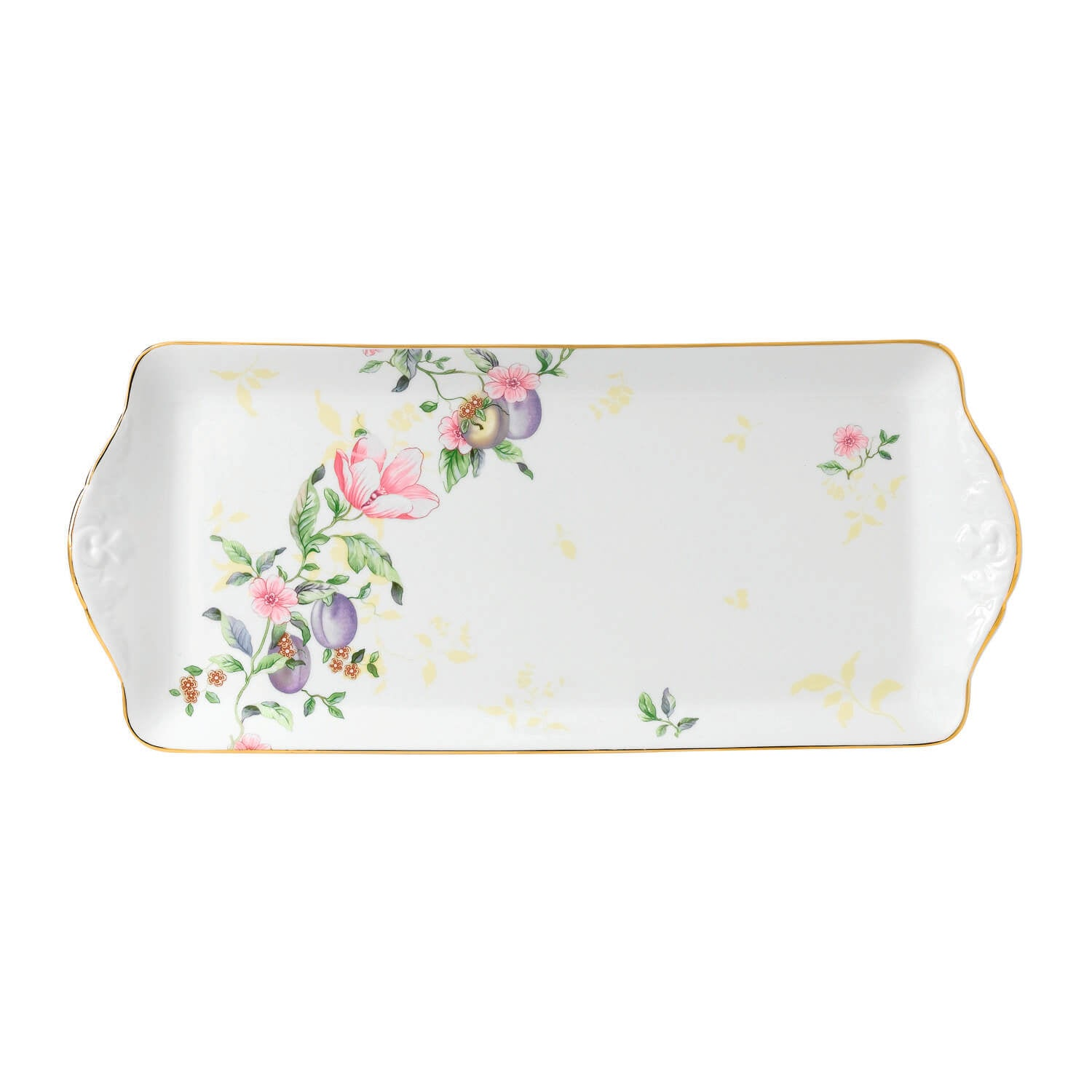 Sweet Plum Damask Sandwich Tray