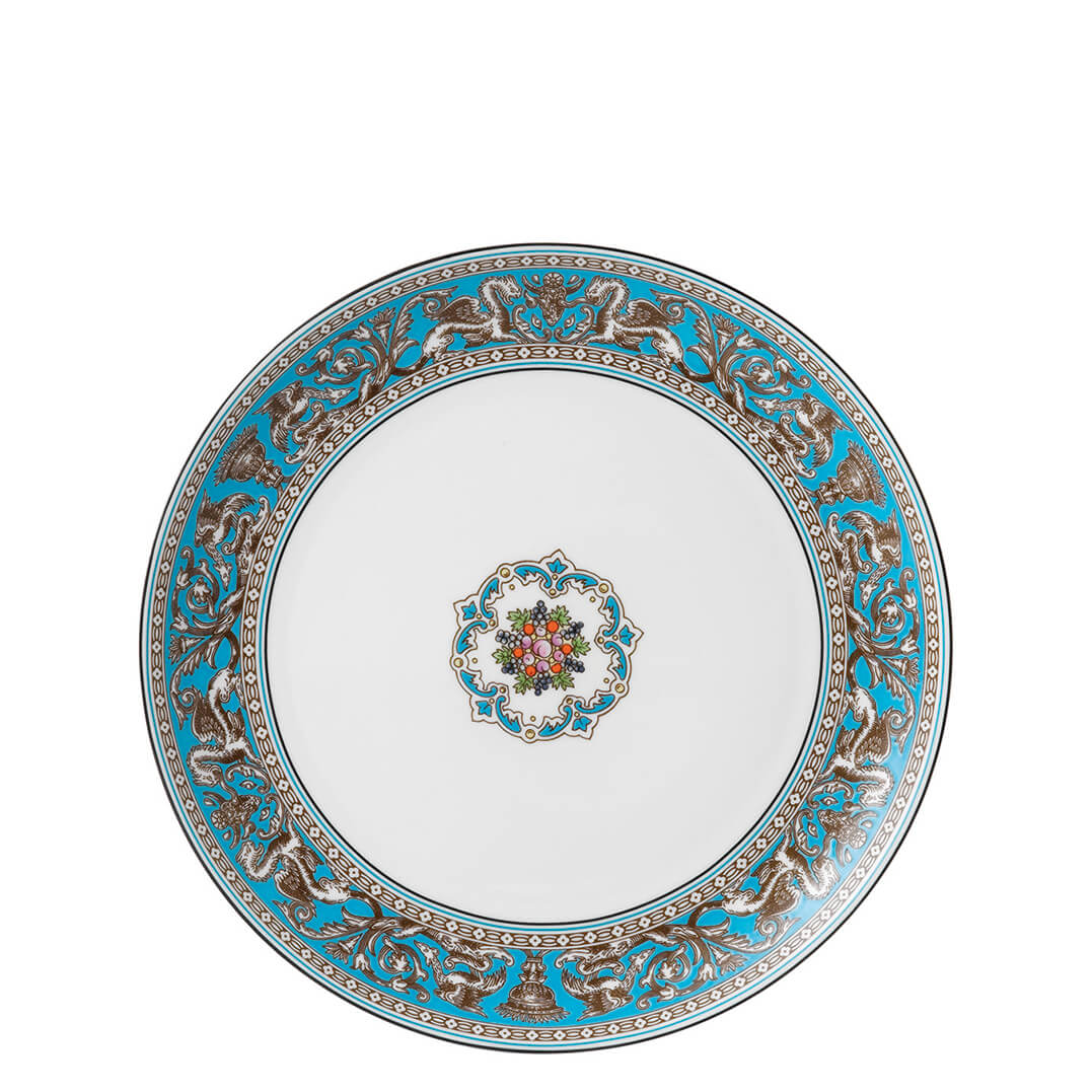 Florentine Turquoise Coupe Plate 23cm