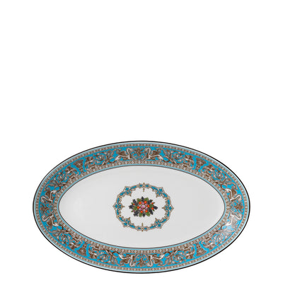 Florentine Turquoise Oval Plate 26cm