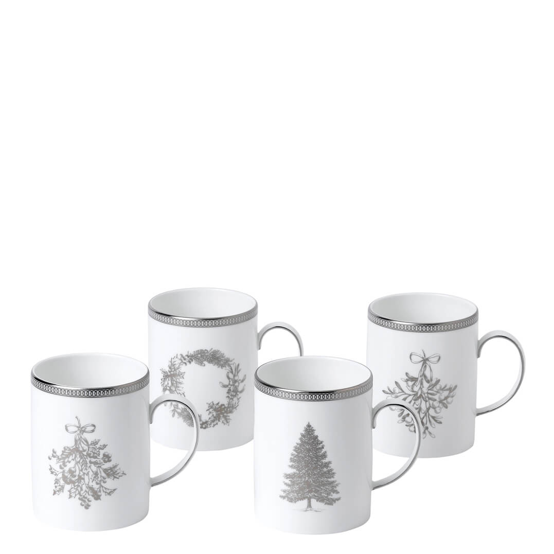 Christmas 2018: Winter White Mugs (Set Of 4)