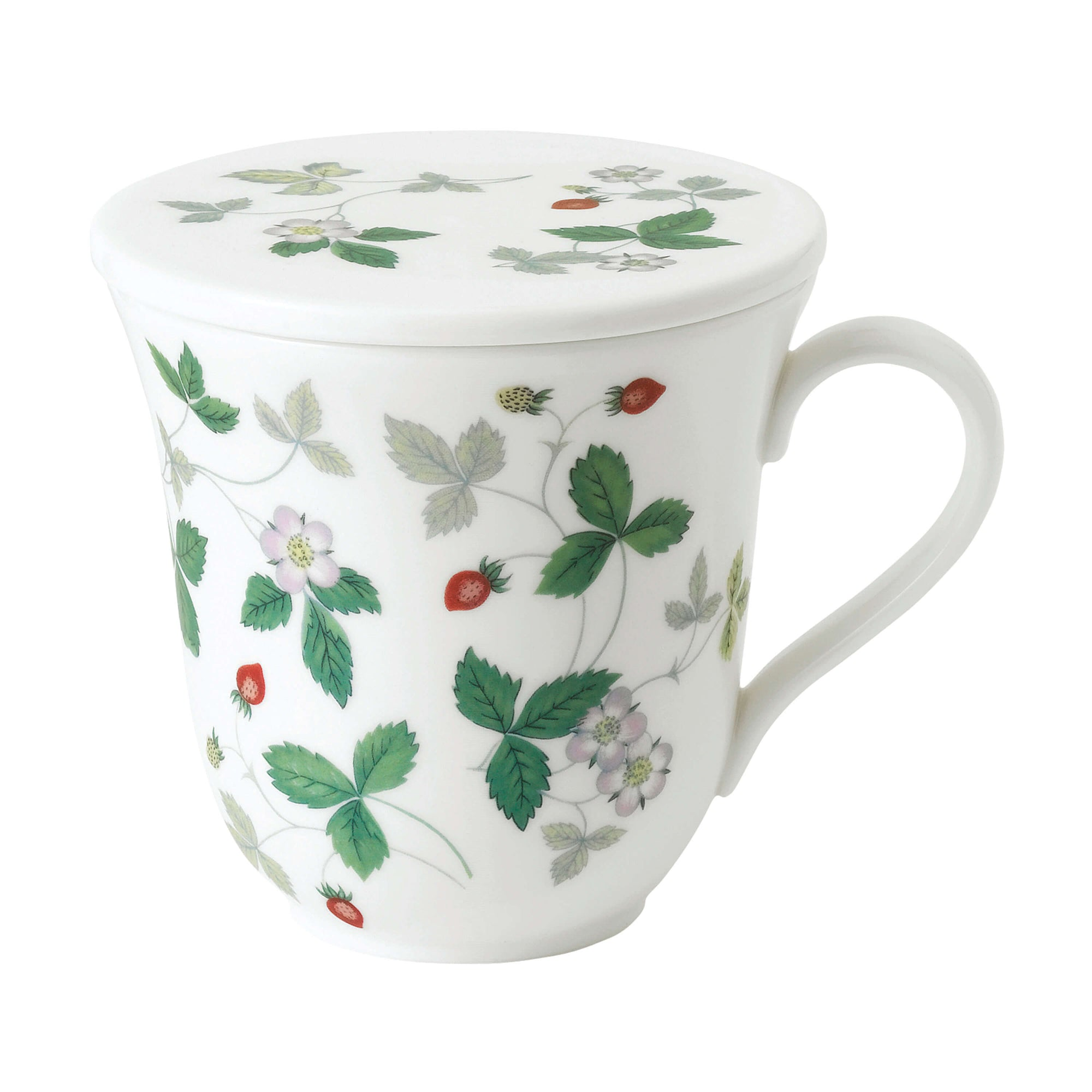 Wild Strawberry Lidded Mug