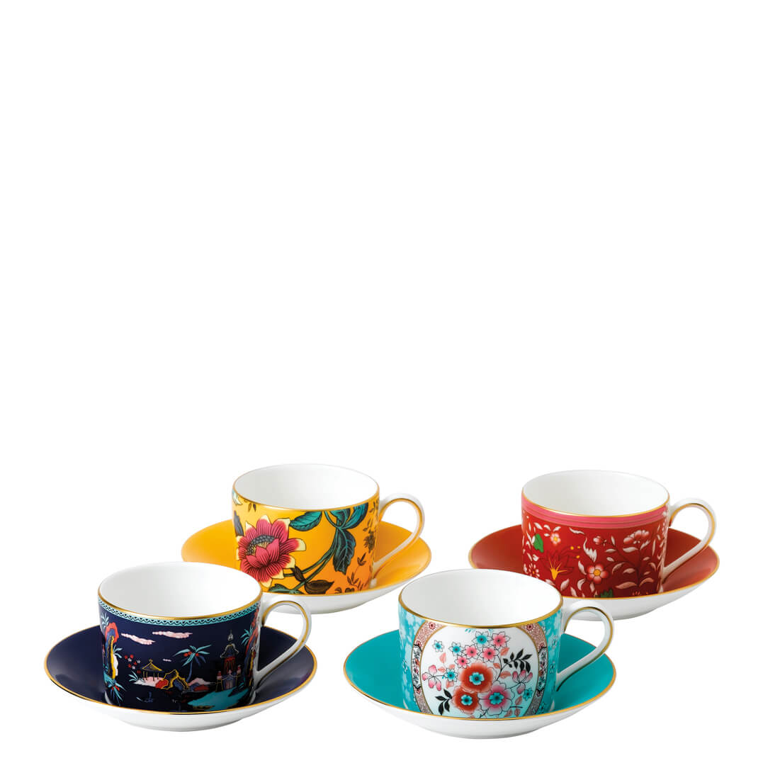 Wonderlust Teacup & Saucer (Set Of 4)