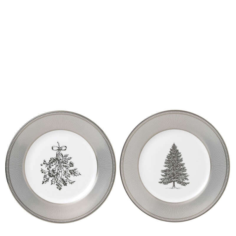 Winter White 20cm Plate, Set of 2