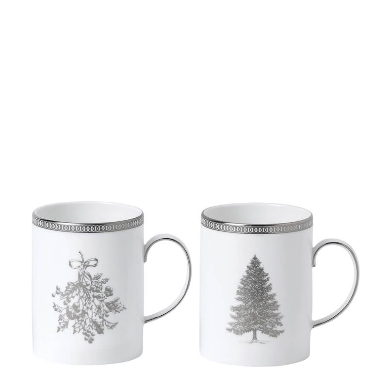 Winter White Mugs (Set Of 2)