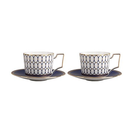 Renaissance Gold Teacup & Saucer, Set of 2
