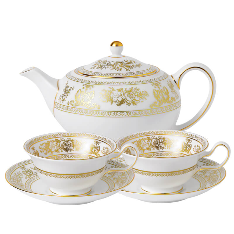 Gold Columbia Tea Set