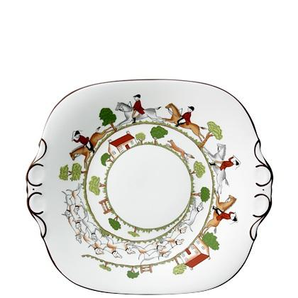 Hunting Scene Bread and Butter Plate