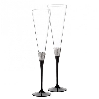 Vera Wang With Love Toasting Flute Noir (Set of 2)