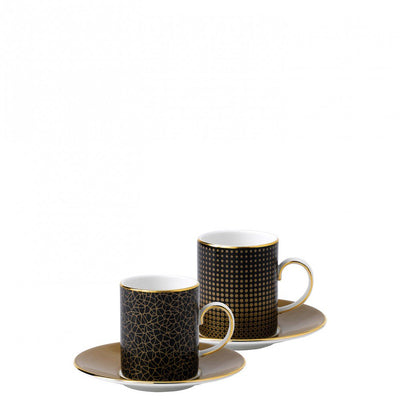 Arris Espresso Cup and Saucer Pair (Sphere/Crackle)