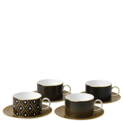 Arris Teacup and Saucer (Set of 4)