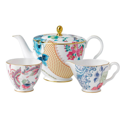 Butterfly Bloom 3 Piece Set: Teapot, Sugar and Cream