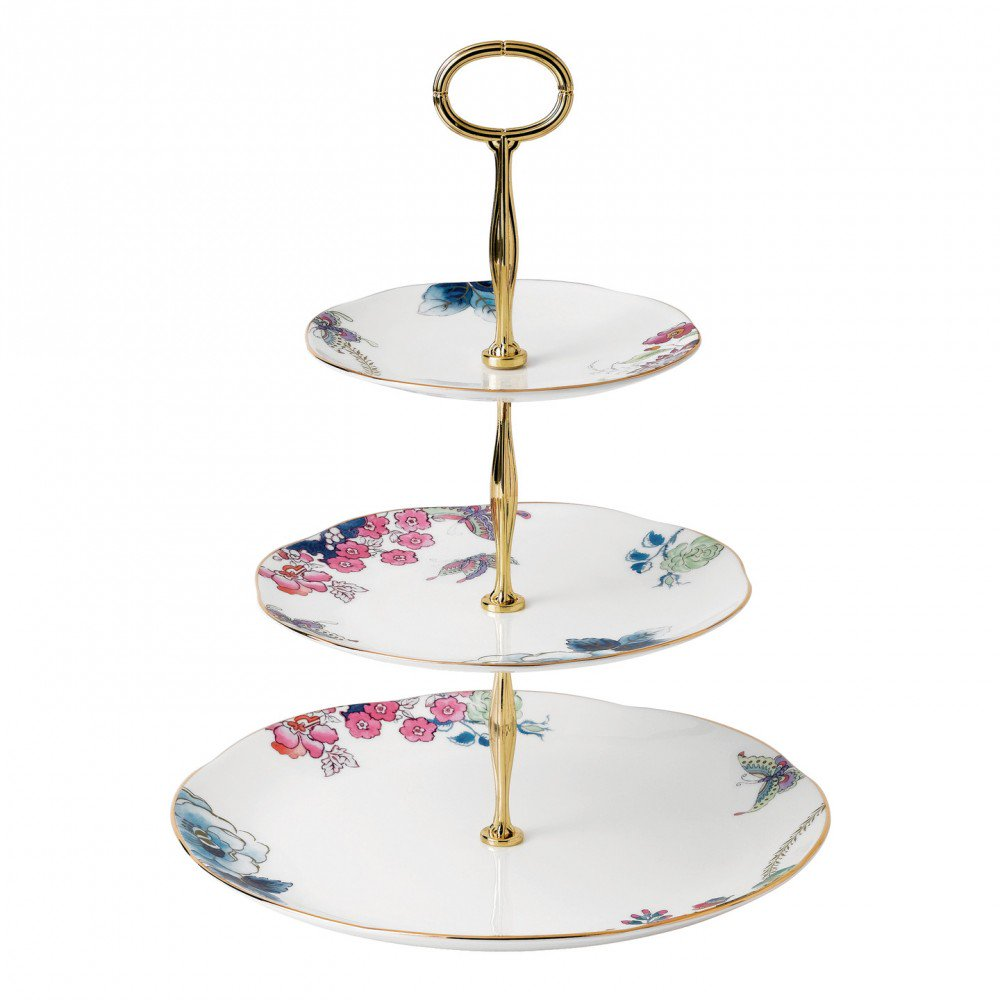 Butterfly Bloom 3-Tier Cake Stand