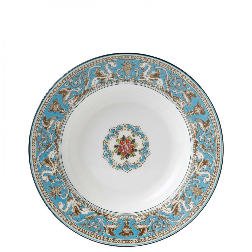 Florentine Turquoise Soup Plate 23cm