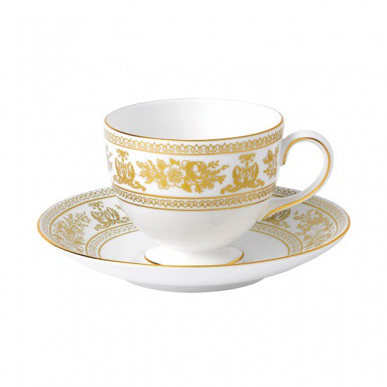 Gold Columbia Leigh Cup And Saucer