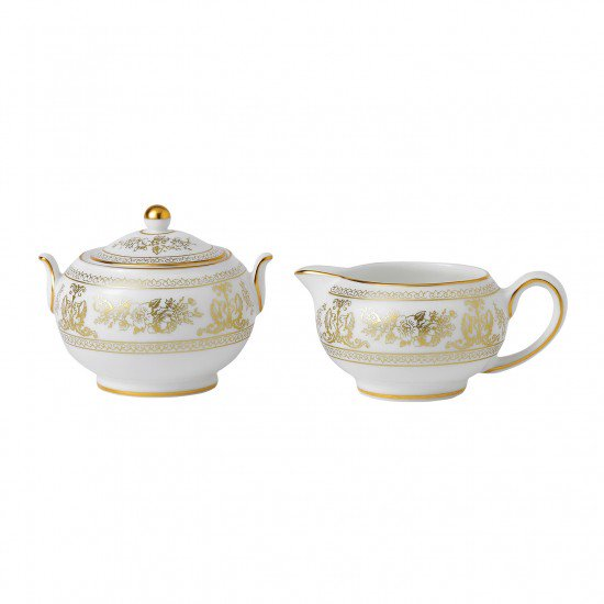 Gold Columbia Sugar & Creamer Set
