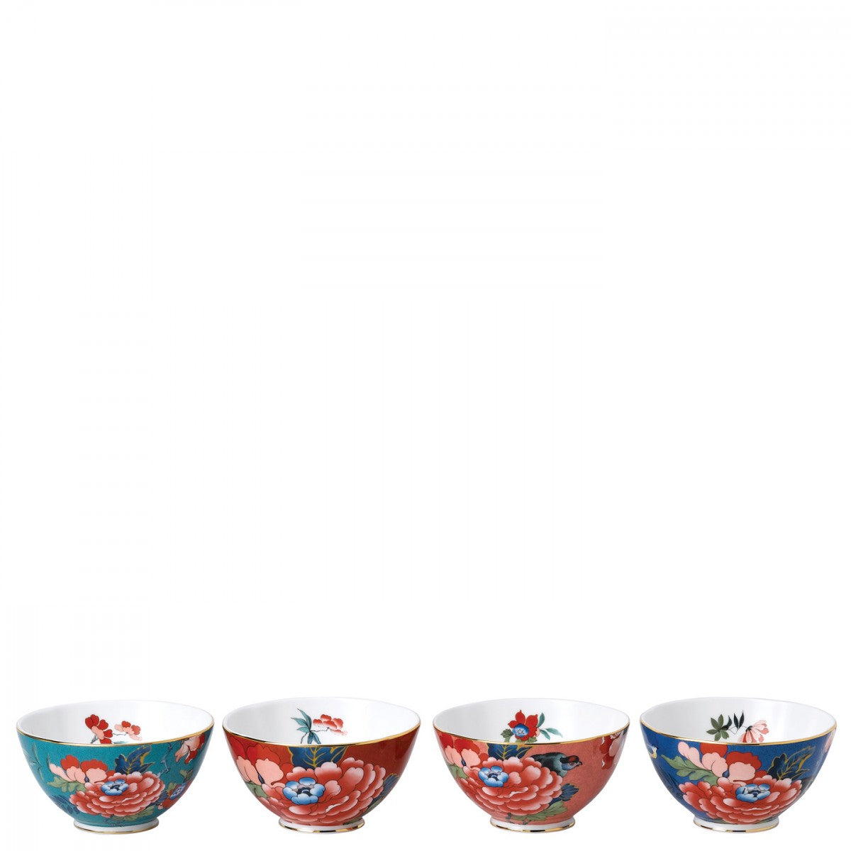 Paeonia Blush Ice Cream Bowls (Set Of 4)
