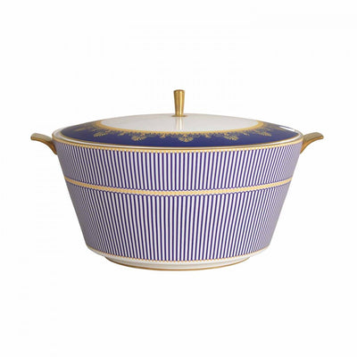 Anthemion Blue Soup Tureen