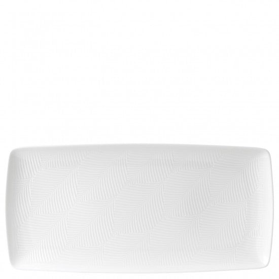 White Folia Rectangular Tray 32cm