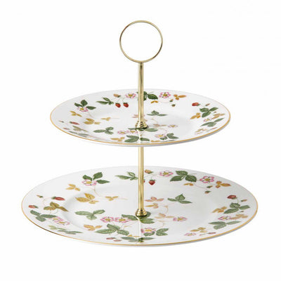 Wild Strawberry 2-Tier Cake Stand, Gift Boxed