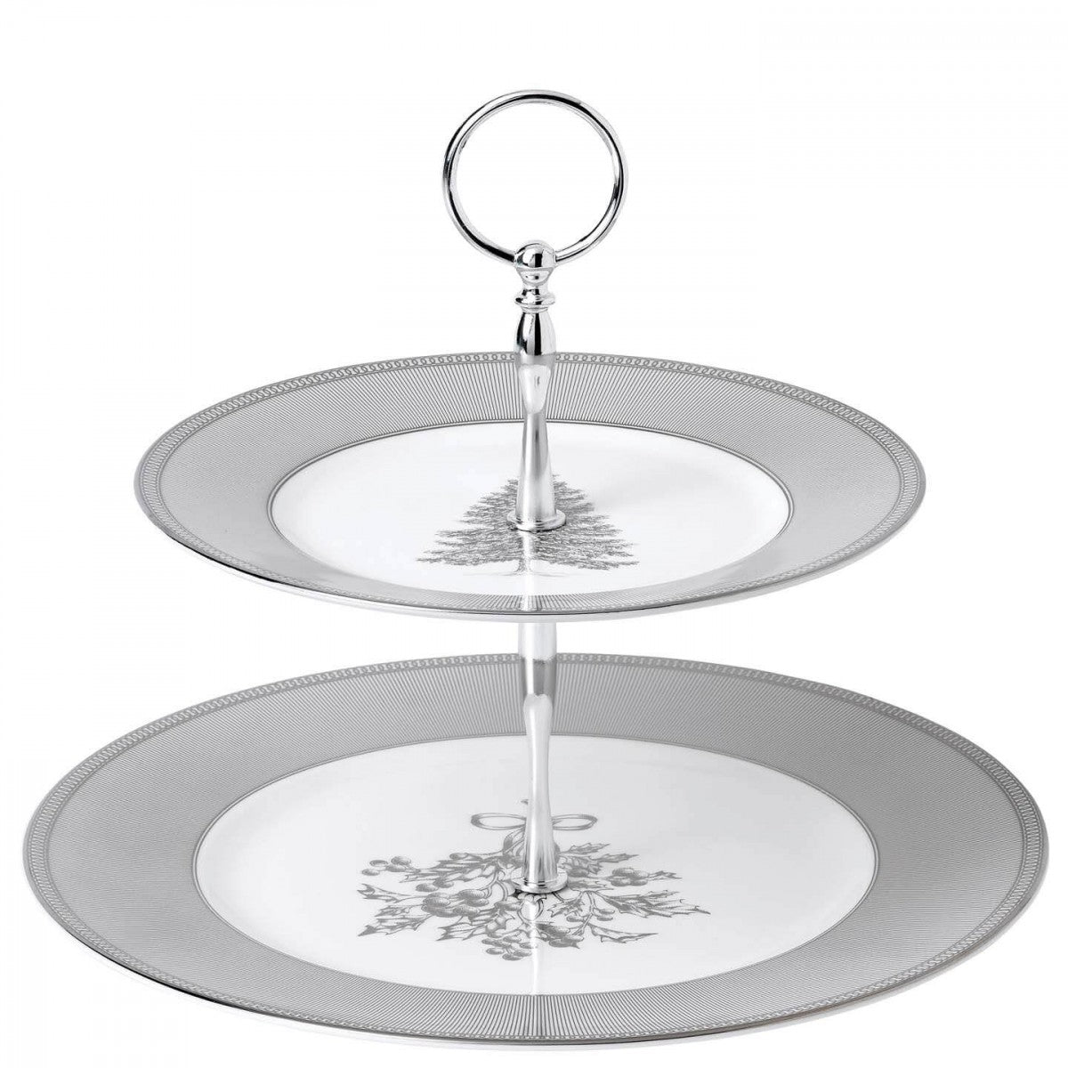 Christmas 2018: Winter White 2 Tier Cake Stand