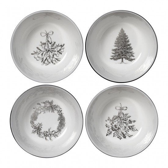 Winter White Nibble Bowls 11cm (Set Of 4)