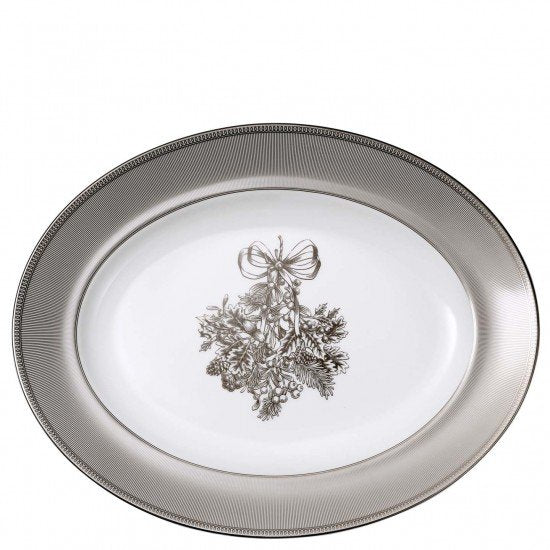 Winter White Oval Platter 35cm