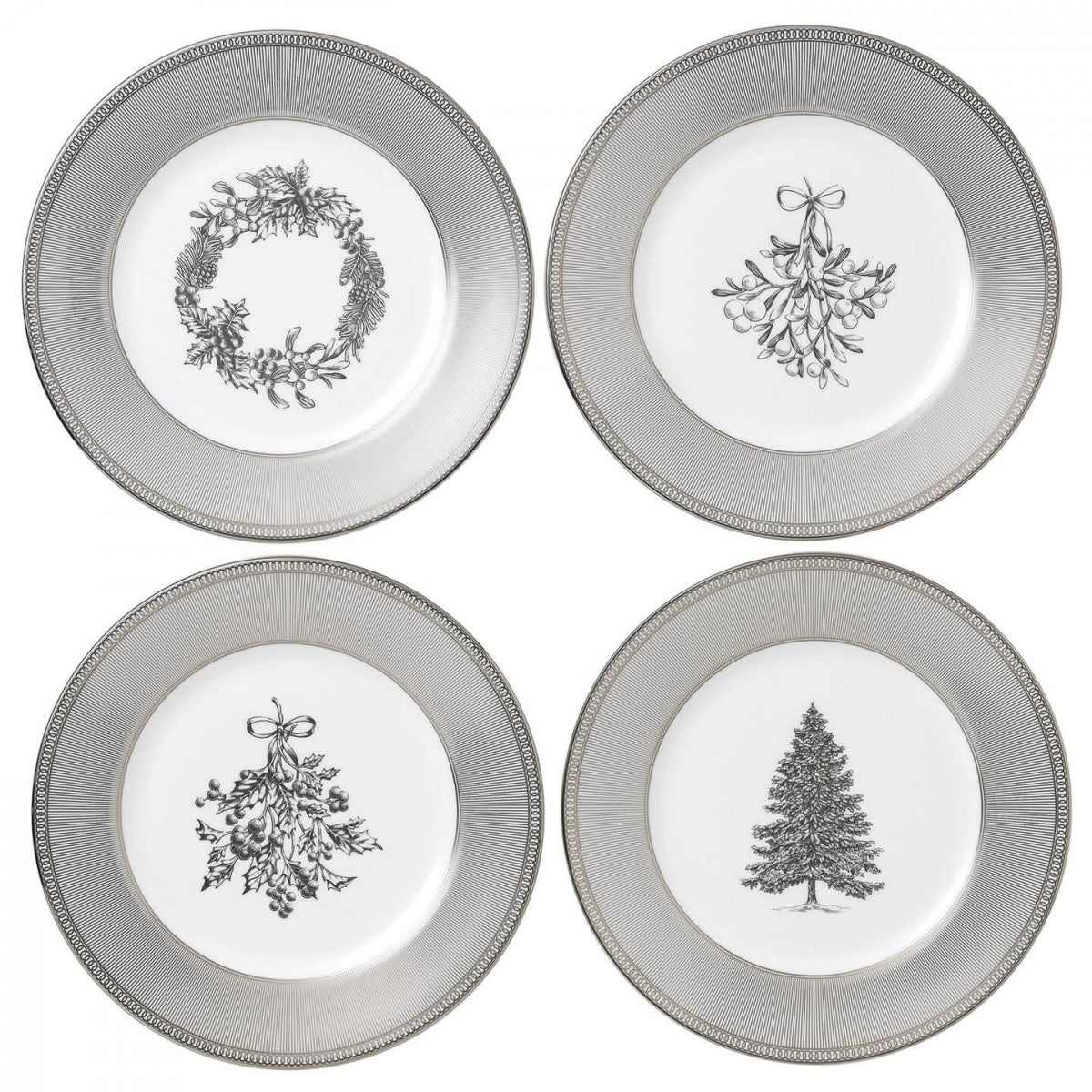 Christmas 2018: Winter White Plates 20cm (Set Of 4)