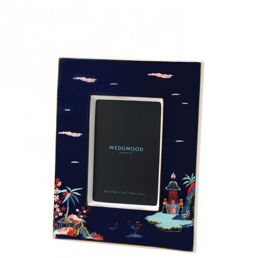 Wonderlust Blue Pagoda Photo Frame (Photo: 10.6x15.2cm / 4x6inch)