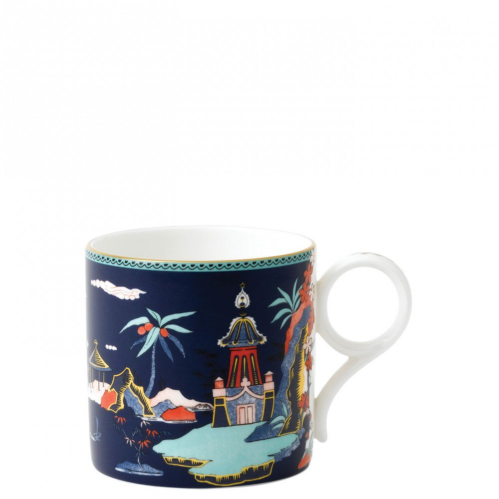 Wonderlust Blue Pagoda Mug Large