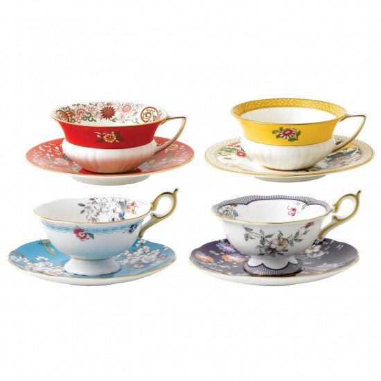 Wonderlust Teacup And Saucer (Set Of 4)