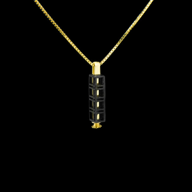 Quadruple Morphic Frame Block Pendant with floral base column