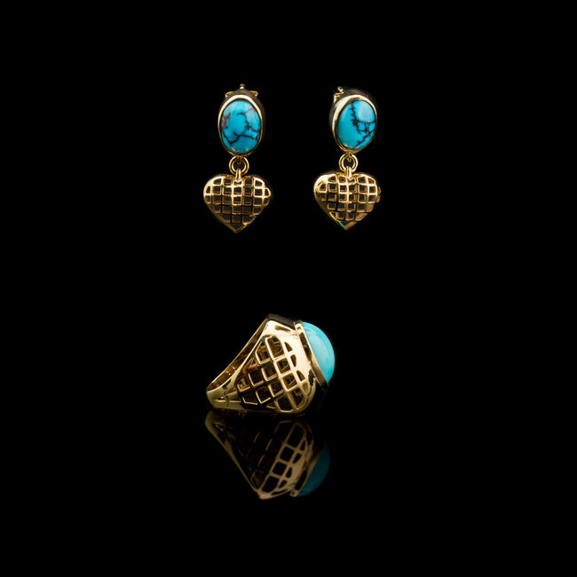 GOLDEN HEARTS and PERSIAN TURQUOISE set