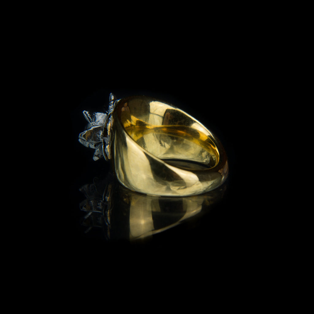 Designer statement Ring in 18K Gold Vermeil