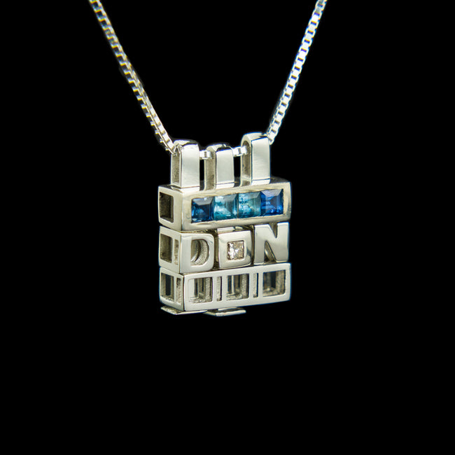 Winter I Morphic Blocks pendant