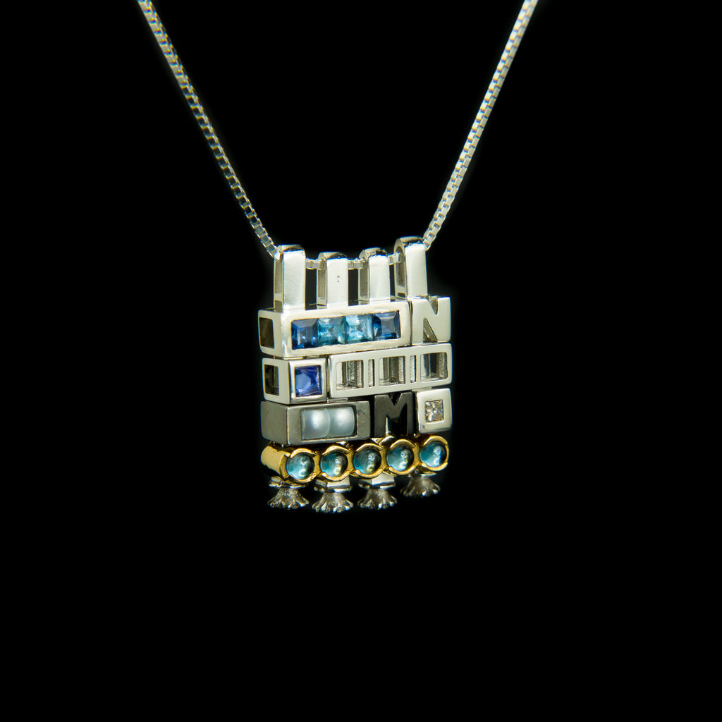 WINTER II Morphic Blocks Pendant