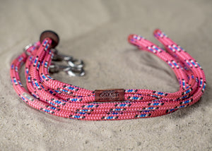 Pink, Blue, White and Black Rope Leash