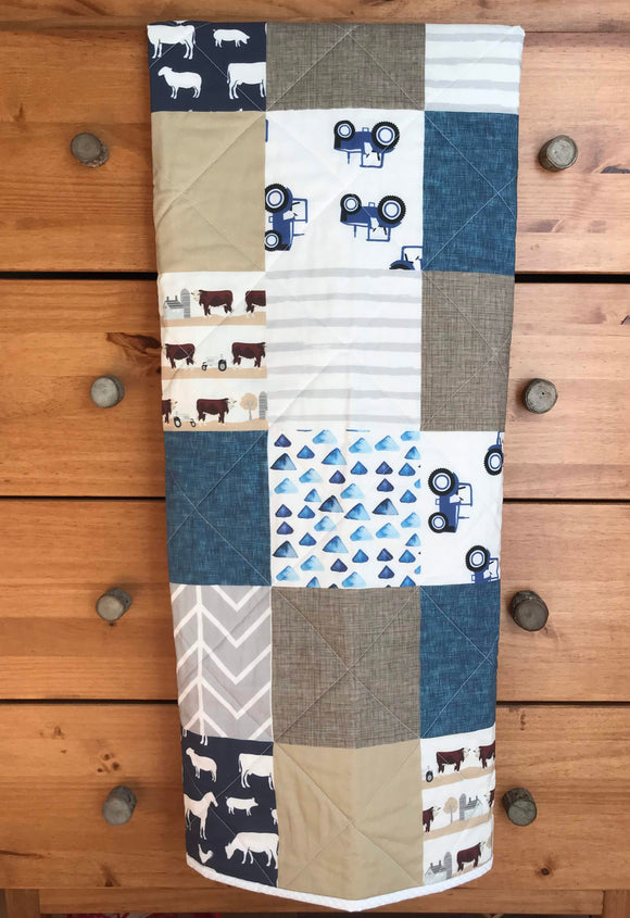 Farm Boy, Tractor Whole Cloth Quilt