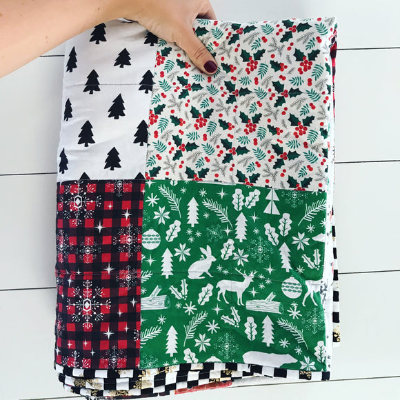Christmas Whole Cloth Quilt