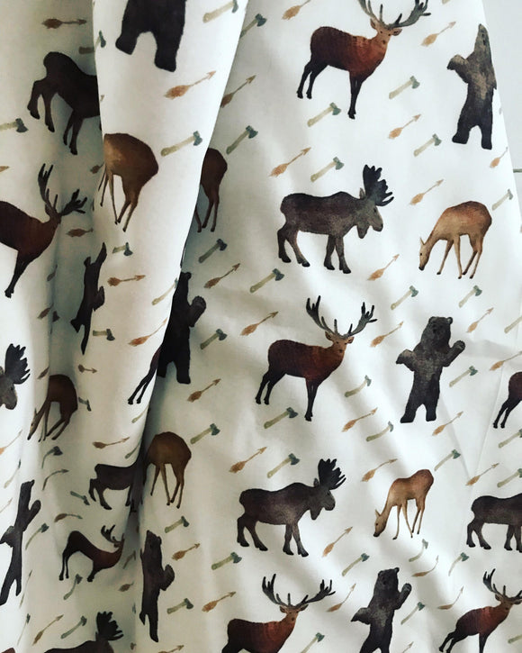 Woodland Deer Moose Elk Bear Nursery Bedding