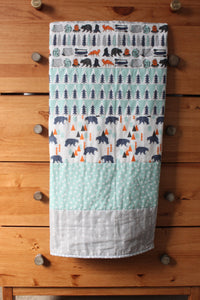 Camping Whole Cloth Quilt