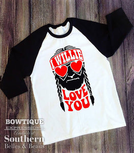 I Willie Love You Raglan