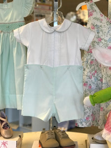 Lulu BeBe boy short set mint