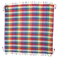George keffiyeh rainbow by Tahrir Scarf in red, white and blue (full spread)