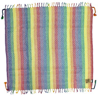 Gilbert pastel rainbow keffiyeh by Tahrir Scarf in white (full spread)