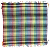 Jami rainbow keffiyeh by Tahrir Scarf (full spread)