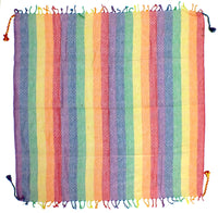 Slight Pink rainbow keffiyeh by Tahrir Scarf (full spread)
