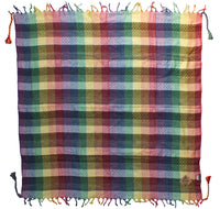 Pride rainbow keffiyeh by Tahrir Scarf (full spread)